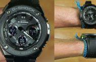 Review Casio G-Shock GST-S100G-1B, varian G-steel dengan balutan warna hitam
