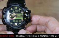 G-Shock GA/GBA-400 : Cara mensikronisasi / menyamakan posisi jam analog yang berbeda dengan waktu digital