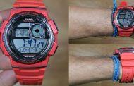 Review Casio Standard AE-1000W-4AV, si merah yang keren dengan harga mahasiswa