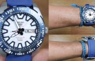 Seiko 5 SRP783K1 Automatic Limited Edition, jam sporty dengan kombinasi putih dan biru