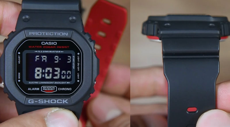 Review Casio G Shock Dw 5600hr 1 Sikotak Dengan Dual Tone Resin